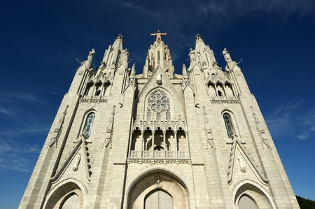 tibidabo: Tibidabo temple, Barcelona, Spain
