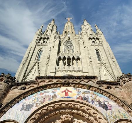 tibidabo: Tibidabo churchtemple, at the top of tibidabo hill, Barcelona, Spain