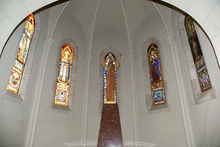 The interior of the Tibidabo churchtemple, at the top of tibidabo hill, Barcelona, Spain