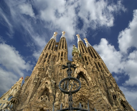 barcelona cathedral: Sagrada Familia by Antoni Gaudi in Barcelona Spain