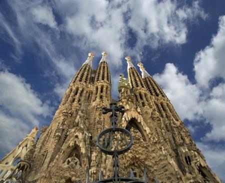 barcelone: Sagrada Familia d'Antoni Gaudi � Barcelone, Espagne �ditoriale