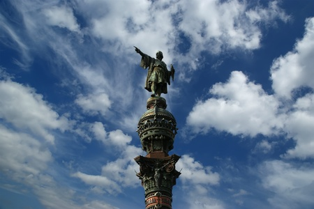 Chistopher Columbus monument in Barcelona, Spain photo