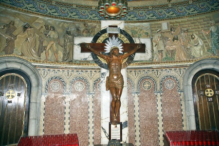 tibidabo: The interior of the Tibidabo churchtemple, at the top of tibidabo hill, Barcelona, Spain