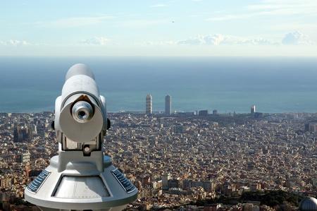 tibidabo: view of Barcelona from the Tibidabo hill