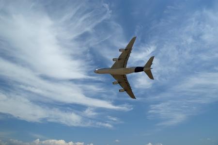 biggest: Biggest airplane in flight. Airbus 380 Editorial