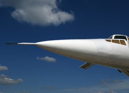The Tupolev Tu-144 (NATO name: Charger) was a Soviet supersonic transport aircraft, similar to the concord  Stock Photo - 13182629