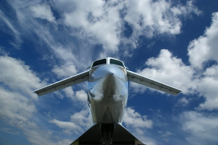 The Tupolev Tu-144 (NATO name: Charger) was a Soviet supersonic transport aircraft, similar to the concord  Stock Photo - 13182455