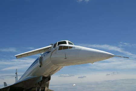 The Tupolev Tu-144  NATO name  Charger  was a Soviet supersonic transport aircraft, similar to the concord  Stock Photo - 13182628