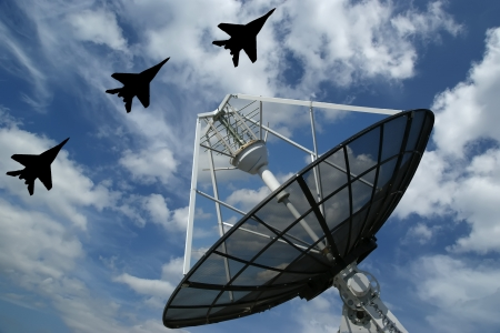 Modern Russian radar is designed  and automatic tracking of targets and missiles Stock Photo - 13190176