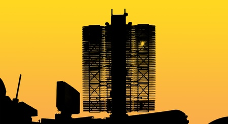 Modern Russian radar is designed  and automatic tracking of targets and missiles photo