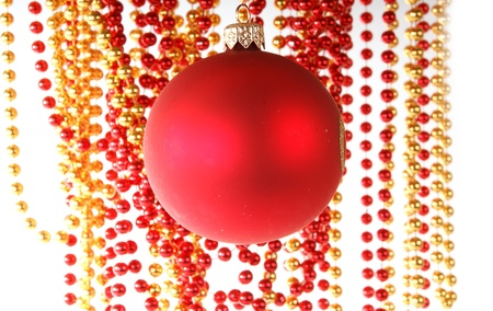 Christmas decoration on white background Stock Photo - 13190485