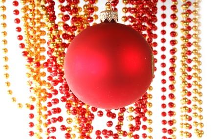 Christmas decoration on white background Stock Photo - 13190485