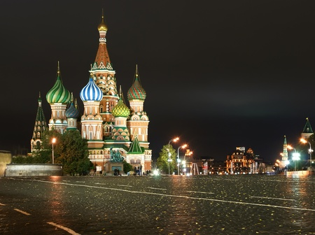 night Red square. Moscow, Russia Stock Photo - 13191806