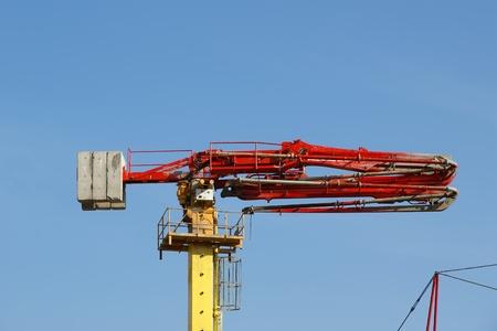 concrete pump: Concrete pump at the blue sky