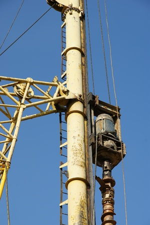 Details of the construction drill closeup photo