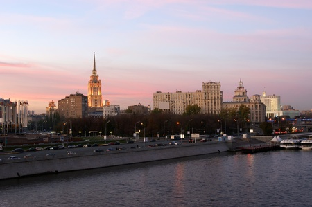 Moscow, Russia. Night. View from the embankment of the Moskva River Stock Photo - 13182740