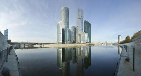 Panorama of the international business centre (City), Moscow, Russia Stock Photo - 13182713