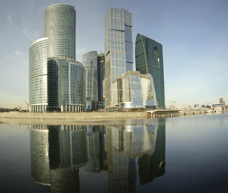 Panorama of the international business centre (City), Moscow, Russia Stock Photo - 13192058