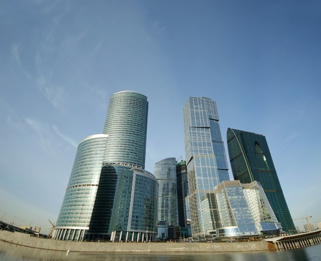 Panorama of the international business centre  City , Moscow, Russia photo