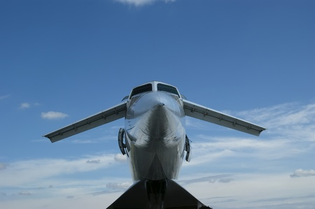 The Tupolev Tu-144 (NATO name: Charger) was a Soviet supersonic transport aircraft, similar to the concord  Stock Photo - 13182791