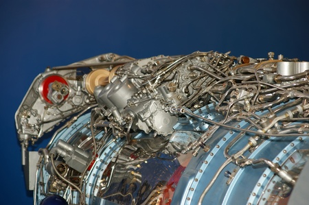 aero generator: Large jet engine detail viewed from below (other views available).