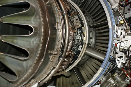 Large jet engine detail viewed from below (other views available). Stock Photo - 13203760