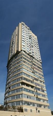 Multi-storey residential building fragment closeup Stock Photo - 13203778