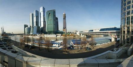 Panorama of the international business centre (City), Moscow, Russia photo