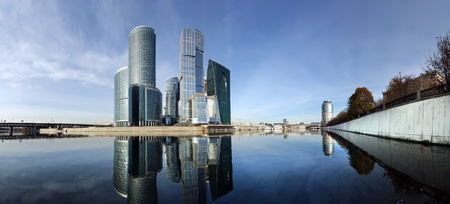 Panorama of the international business centre (City), Moscow, Russia Stock Photo