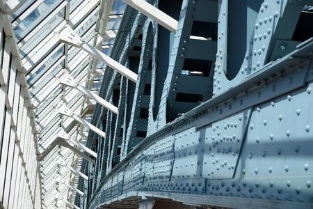 Arch Strukturen von Bogdan Chmelnizki (Kievsky) Fußgängerbrücke (2001). Moskau, Russland Editorial