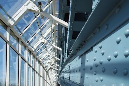 ボグダン ・ フメリニツキー (Kievsky) 歩道橋 (2001 年) の構造をアーチします。モスクワ;ロシア 報道画像