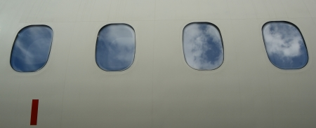 airplane window: windows of an aeroplane   plane window