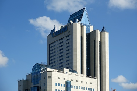 HIGH-TECH STYLE BUILDING  Gazprom headquarters in Moscow