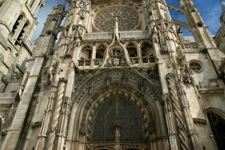 notre dame: Cathedral  Notre Dame  of Senlis, Oise, Picardy, France