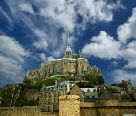 basse normandy: Mont Saint-Michel, Normandy, France--one of the most visited tourist sites in France