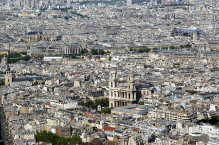 The city skyline at daytime. Paris, France. Taken from the tour Montparnasse   photo