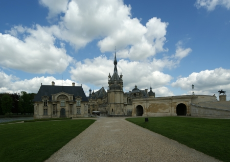 chantilly: Chateau de Chantilly   Chantilly Castle  , Oise, Picardie, France