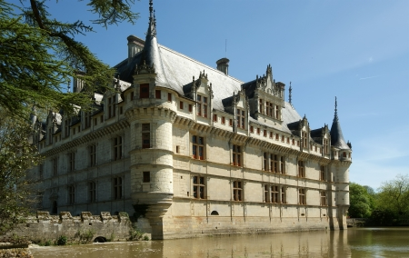 Chateau Azay-le-Rideau  was built from 1515 to 1527 , Loire, France
