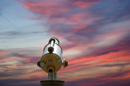 telescope viewer  tourist type telescope , isolation Stock Photo - 15592077