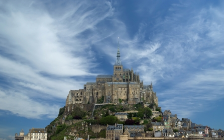 Mont Saint-Michel, Normandy, France--one of the most visited tourist sites in France  Stock Photo - 15547359