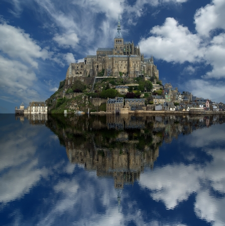 Mont Saint-Michel, Normandy, France--one of the most visited tourist sites in France