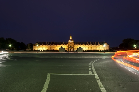 Les Invalides  The National Residence of the Invalids  at night - Paris, France