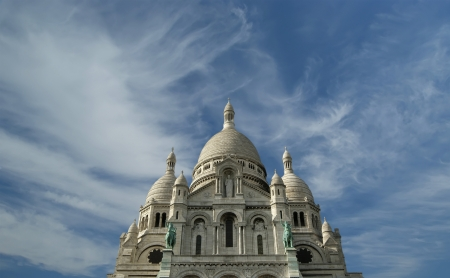Basilica of the Sacred Heart of Paris, commonly known as Sacre-Cœur Basilica, Paris, France photo