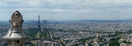 The city skyline at daytime  Paris, France  Taken from the tour Montparnasse photo