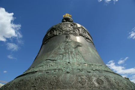 The Tsar Bell, also known as the Tsarsky Kolokol, Tsar Kolokol III, or Royal Bell, is a 6 14 metres  20 1 ft  tall, 6 6 metres  22 ft  diameter bell on display on the grounds of the Moscow Kremlin Stock Photo - 15873582