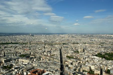 The city skyline at daytime. Paris, France. Taken from the tour Montparnasse   photo