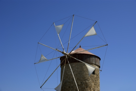 old Rhodes windmills, Greece photo