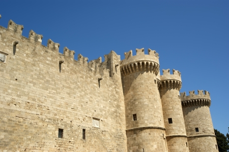 The famous Knights Grand Master Palace  also known as Castello  in the Medieval town of rhodes