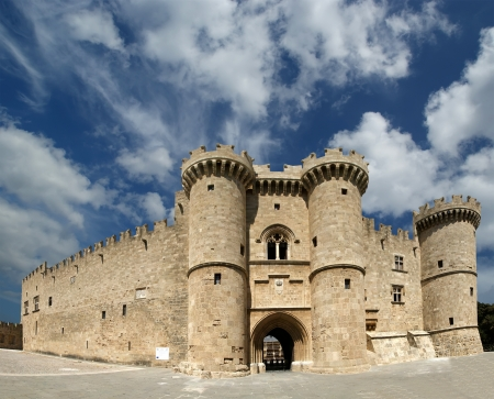 Rhodes Island, Greece, a symbol of Rhodes, of the famous Knights Grand Master Palace (also known as Castello) in the Medieval town of rhodes, a must-visit museum of Rhodes. This is the best of what the Knights of Saint John order has left in Rhodes Island Editorial
