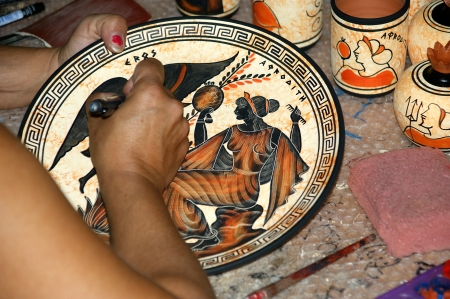 pottery by making copies of ancient Greek vases